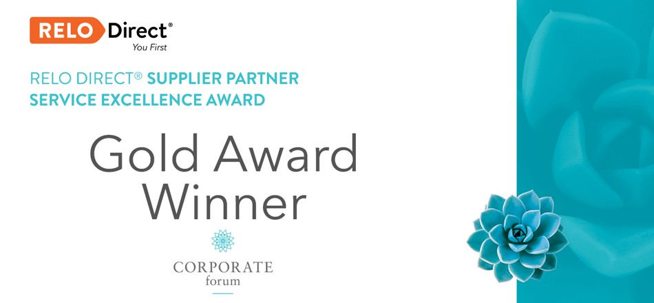 Ward North American Receives Gold RELO Direct® Supplier Partner Service Excellence Award