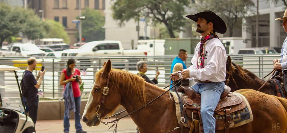 The Cowboys at the rodeo parade in Houston