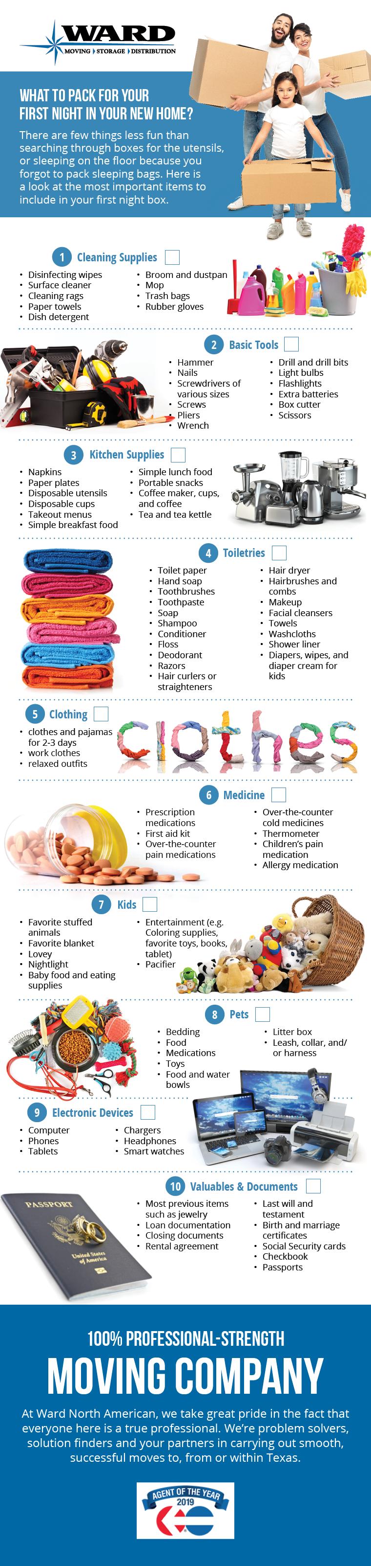 Moving essentials infographic